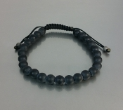 Black Onyx Macrame Bracelet (6mm)