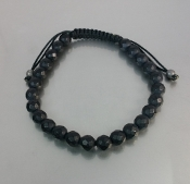 Black Onyx (Honeycomb Faceted) Bracelet