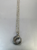Octopus Tentacle Pendant on Oxidized Orbit Chain