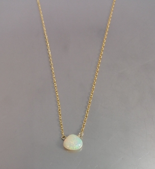 Ethiopian Opal Necklace (6mm)