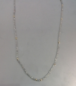 14 Karat Yellow Gold Labradorite Necklace