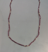 14 Karat Yellow Gold Garnet Necklace