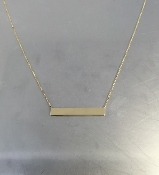 14 Karat Yellow Gold Bar Necklace (5x30mm)