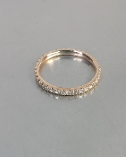 14 Karat Rose Gold Diamond Eternity Band (0.27ct)