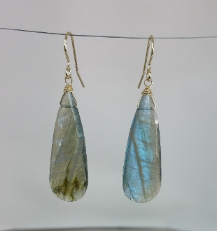 Labradorite Earrings (12x30mm)