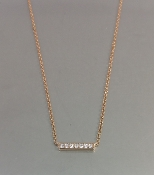 14 Karat Rose Gold Diamond Bar Necklace (0.07ct)