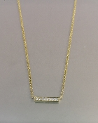 14 Karat Yellow Gold Diamond Bar Necklace (0.07ct)