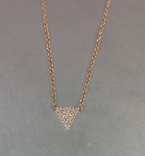 14 Karat Rose Gold Diamond Triangle-N (0.10ct)