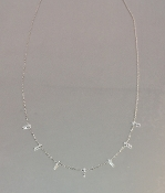 14 Karat White Gold Diamond Multi Bar Necklace