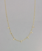 14 karat Yellow Gold Diamond Multi Bar Necklace