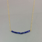 Lapis Bar Necklace