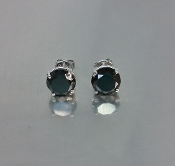 14 Karat White Gold Black Diamond Studs (3.28ct)