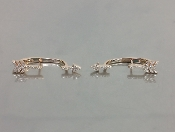 14 Karat Rose Gold Diamond Arrow Earrings (0.16ct)