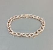 14 Karat Rose Gold Diamond Link Bracelet (2.32ct)