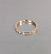 14 Karat Rose Gold Diamond Eternity Band (0.38ct)
