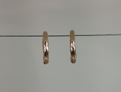 14 Karat Rose Gold Huggie Earrings (9mm)