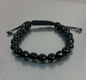 Black Onyx macrame Bracelet (8mm)