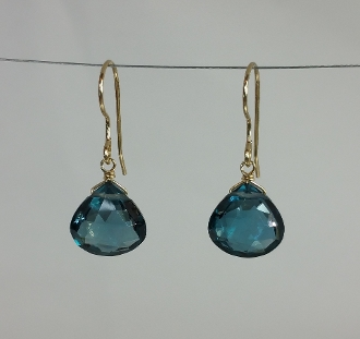 Blue Hydro Quartz Earrings