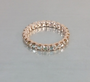 14 Karat Rose Gold Champagne Diamond Ring (1.50ct)