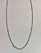 Green Onyx Oxidized Necklace