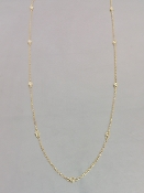 14 Karat Yellow Gold Diamond By The Yard Necklace (0.30ct) 3.2mm