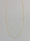 14 Karat Yellow Gold Diamond By The Yard Necklace (0.23ct) 3mm