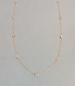14 Karat Rose Gold Diamond By The Yard Necklace (0.50ct) 4mm