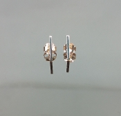14 Karat Rose Gold Bar Earrings (1x11mm)