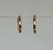 14 Karat Rose Gold Huggie Earrings (13mm)