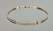 14 Karat Rose Gold Diamond Bangle (0.22ct)