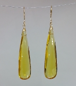 Mandarin Quartz Earrings (10x40mm)
