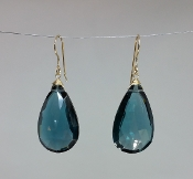 London Blue Hydro Quartz Earrings (15x25mm)