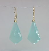 Chalcedony Earrings - (18x32mm)