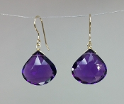 Purple Quartz Earrings (15x15mm)