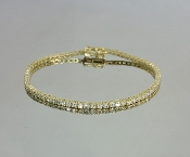 14 Karat Yellow Gold Diamond Bracelet (2.81ct)