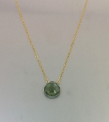 Green Moss Aquamarine Necklace