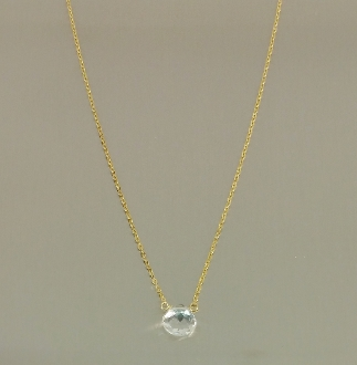 White Topaz Necklace (8mm)