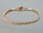 14 Karat Rose Gold Diamond Bracelet (2.48ct)