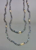 14 Karat Yellow Gold Labradorite Necklace (3mm)