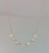 14 Karat Rose Gold Multi Triangle Diamond Necklace (0.35ct)