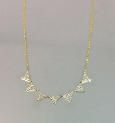 14 Karat Yellow Gold Multi Triangle Diamond Necklace (0.40ct)
