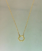 14 Karat Yellow Gold Honeycomb Necklace