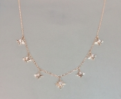 14 Karat Rose Gold Multi Stardust Diamond Choker (0.15ct)