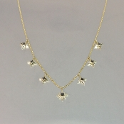 14 Karat Yellow Gold Stardust Black Diamond Necklace (0.13ct)