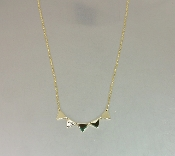 14 Karat Yellow Gold Multi Triangle Necklace