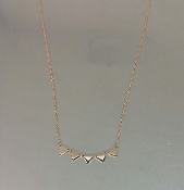 14 Karat Rose Gold Multi Triangle Necklace