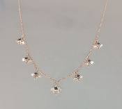 14 Karat Rose Gold Diamond Multi Stardust Necklace (0.13/0.03ct)
