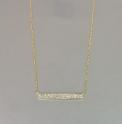 14 Karat Yellow Gold Diamond Bar-N (0.19ct)