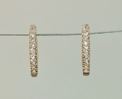 14 Karat Rose Gold Diamond Huggie Earrings (0.07ct)