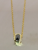 18 Karat Yellow Gold Black Diamond Necklace (1.67ct)